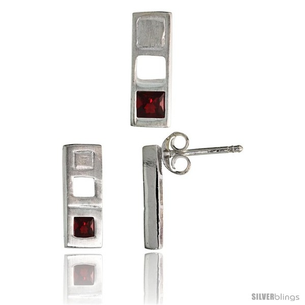 https://www.silverblings.com/17713-thickbox_default/sterling-silver-matte-finish-bar-earrings-12mm-tall-pendant-slide-14mm-tall-set-w-princess-cut-ruby-colored-cz-stones.jpg