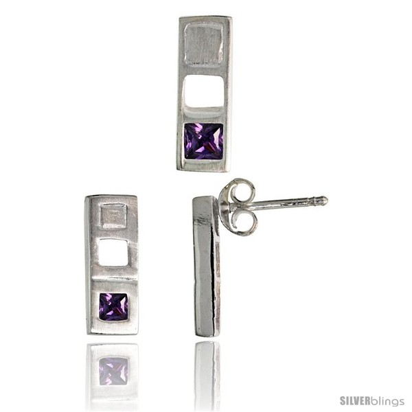 https://www.silverblings.com/17715-thickbox_default/sterling-silver-matte-finish-bar-earrings-12mm-tall-pendant-slide-14mm-tall-set-w-princess-cut-amethyst-colored-cz.jpg
