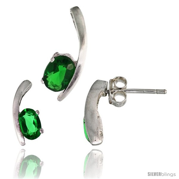 https://www.silverblings.com/17747-thickbox_default/sterling-silver-fancy-kink-earrings-12mm-tall-pendant-16mm-tall-set-w-oval-cut-emerald-colored-cz-stones.jpg