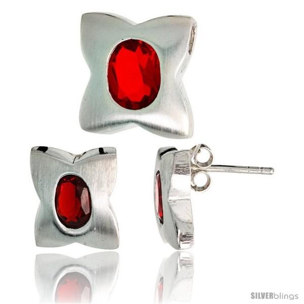 https://www.silverblings.com/17753-thickbox_default/sterling-silver-matte-finish-four-finger-clover-flower-earrings-12mm-tall-pendant-slide-13mm-tall-set-w-oval-cut.jpg