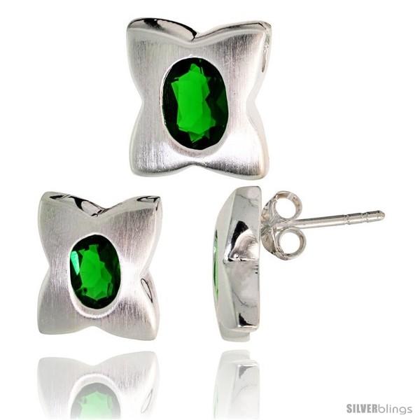 https://www.silverblings.com/17761-thickbox_default/sterling-silver-matte-finish-four-finger-clover-flower-earrings-12mm-tall-pendant-slide-13mm-tall-set-style-set30.jpg