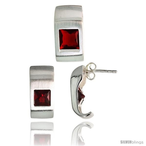 https://www.silverblings.com/17779-thickbox_default/sterling-silver-matte-finish-fancy-earrings-16mm-tall-pendant-slide-17mm-tall-set-w-princess-cut-ruby-colored-cz-stones.jpg
