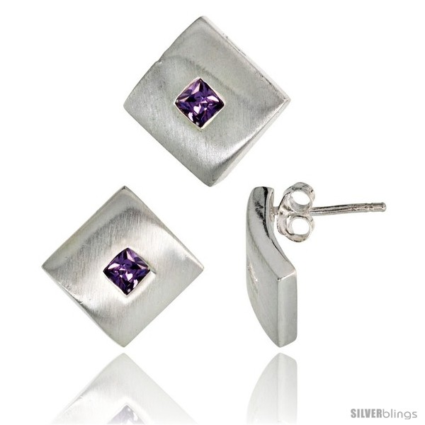 https://www.silverblings.com/17809-thickbox_default/sterling-silver-matte-finish-square-shaped-earrings-15mm-tall-pendant-slide-15mm-tall-set-w-princess-cut.jpg