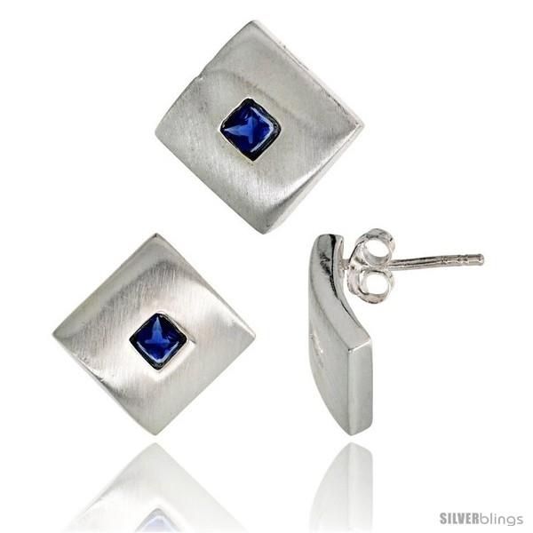 https://www.silverblings.com/17811-thickbox_default/sterling-silver-matte-finish-square-shaped-earrings-15mm-tall-pendant-slide-15mm-tall-set-w-princess-cut-blue.jpg