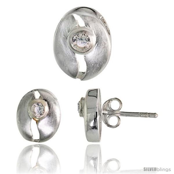 https://www.silverblings.com/17841-thickbox_default/sterling-silver-matte-finish-cracked-egg-style-earrings-10mm-tall-pendant-slide-11mm-tall-set-w-brilliant-cut-cz-stones.jpg