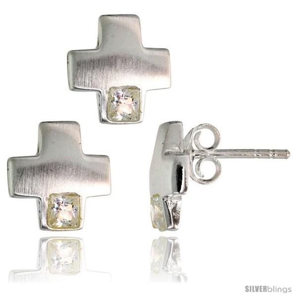 https://www.silverblings.com/17847-thickbox_default/sterling-silver-matte-finish-greek-cross-earrings-10mm-tall-pendant-slide-10mm-tall-set-w-princess-cut-cz-stones.jpg