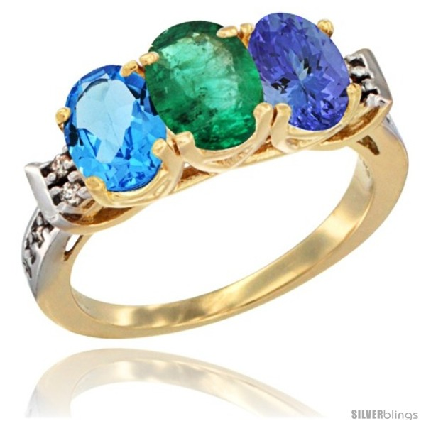 https://www.silverblings.com/17905-thickbox_default/10k-yellow-gold-natural-swiss-blue-topaz-emerald-tanzanite-ring-3-stone-oval-7x5-mm-diamond-accent.jpg