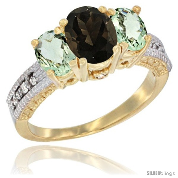 https://www.silverblings.com/17969-thickbox_default/14k-yellow-gold-ladies-oval-natural-smoky-topaz-3-stone-ring-green-amethyst-sides-diamond-accent.jpg