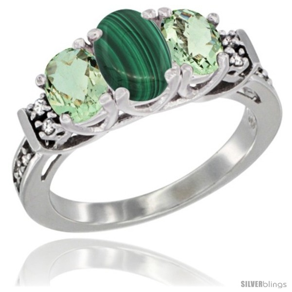https://www.silverblings.com/17980-thickbox_default/14k-white-gold-natural-malachite-green-amethyst-ring-3-stone-oval-diamond-accent.jpg