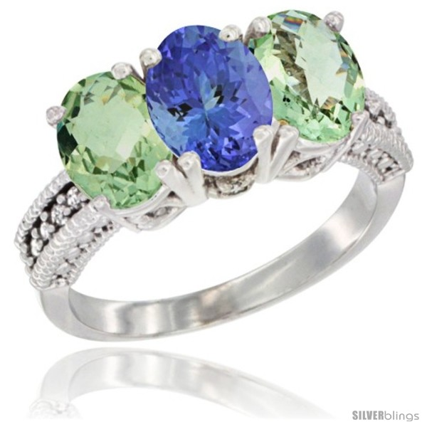https://www.silverblings.com/17984-thickbox_default/14k-white-gold-natural-tanzanite-green-amethyst-sides-ring-3-stone-7x5-mm-oval-diamond-accent.jpg