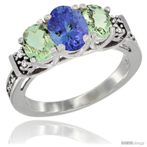 https://www.silverblings.com/17986-thickbox_default/14k-white-gold-natural-tanzanite-green-amethyst-ring-3-stone-oval-diamond-accent.jpg