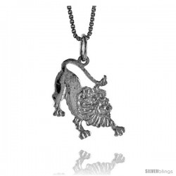Sterling Silver Lion Pendant, 3/4 in Tall