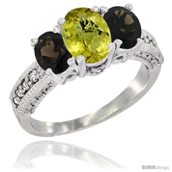 https://www.silverblings.com/1815-thickbox_default/10k-white-gold-ladies-oval-natural-lemon-quartz-3-stone-ring-smoky-topaz-sides-diamond-accent.jpg
