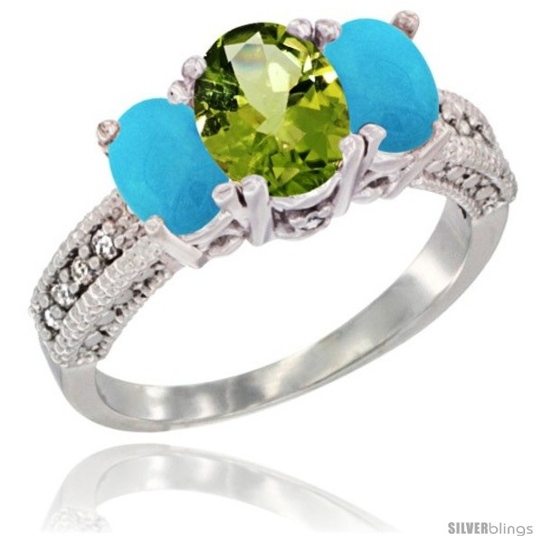 https://www.silverblings.com/18185-thickbox_default/10k-white-gold-ladies-oval-natural-peridot-3-stone-ring-turquoise-sides-diamond-accent.jpg