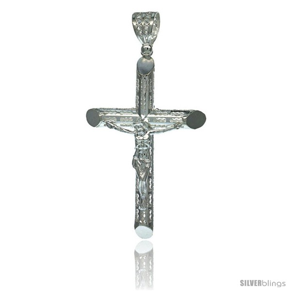 https://www.silverblings.com/18257-thickbox_default/sterling-silver-crucifix-pendant-w-textured-tubular-cross-2-1-16-in-tall.jpg