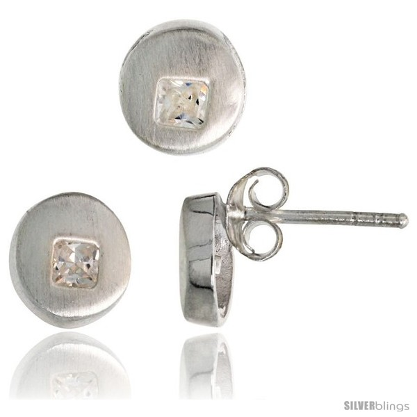 https://www.silverblings.com/18283-thickbox_default/sterling-silver-matte-finish-round-shaped-earrings-7-mm-pendant-slide-8-mm-set-w-princess-cut-cz-stones.jpg