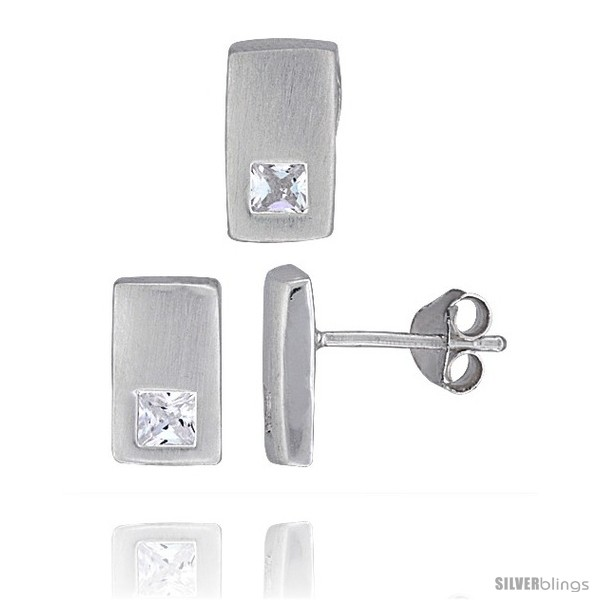 https://www.silverblings.com/18323-thickbox_default/sterling-silver-matte-finish-rectangular-earrings-10mm-tall-pendant-slide-10mm-tall-set-w-princess-cut-cz-stones.jpg
