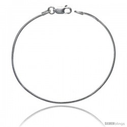 Sterling Silver Italian Octagonal Mirror Snake Chain Necklaces & Bracelets Shiny thin 1.2mm wide Nickel Free