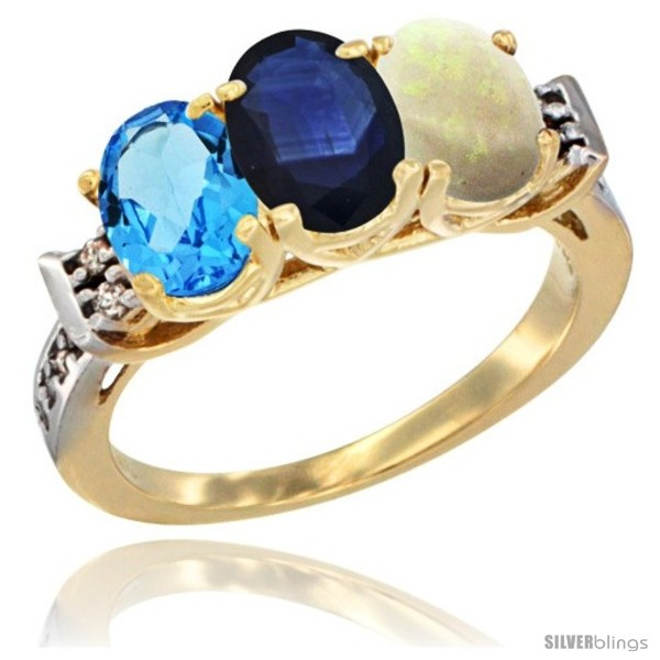 https://www.silverblings.com/18375-thickbox_default/10k-yellow-gold-natural-swiss-blue-topaz-blue-sapphire-opal-ring-3-stone-oval-7x5-mm-diamond-accent.jpg