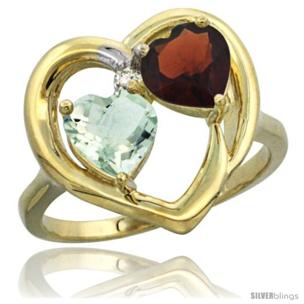 https://www.silverblings.com/18484-thickbox_default/14k-yellow-gold-2-stone-heart-ring-6mm-natural-green-amethyst-garnet-diamond-accent-diamond-accent.jpg