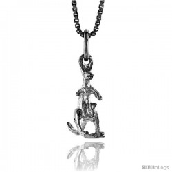 Sterling Silver Kangaroo Pendant, 3/4 in -Style 4p431