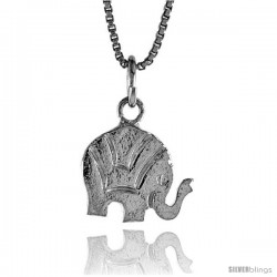 Sterling Silver Small Elephant Pendant, 1/2 in -Style 4p474