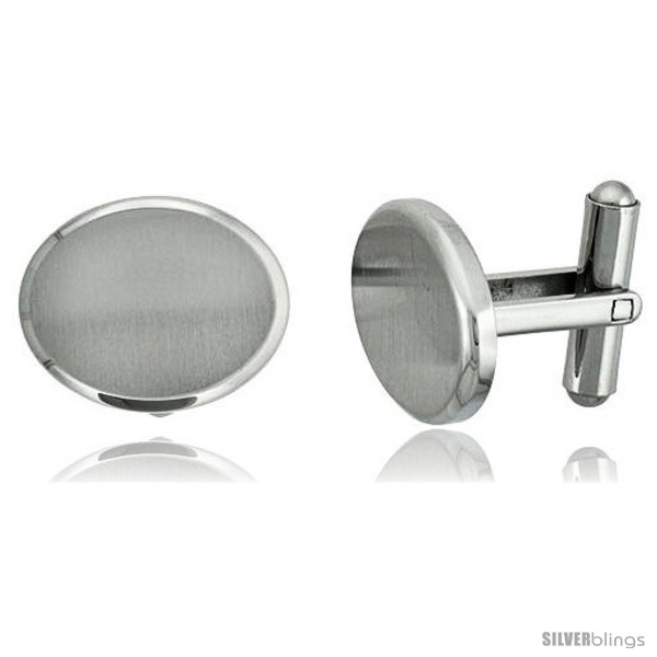 https://www.silverblings.com/1874-thickbox_default/stainless-steel-plain-oval-cufflinks-satin-finished-3-4-x-8-in.jpg