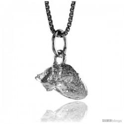 Sterling Silver Teeny Cat Pendant, 3/8 in