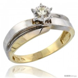 10k Yellow Gold Diamond Engagement Ring, 1/4 in wide