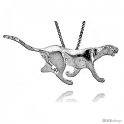 Sterling Silver Lion Pendant, 1 1/2 in wide