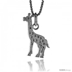 Sterling Silver Giraffe Pendant, 3/4 in Tall -Style 4p530