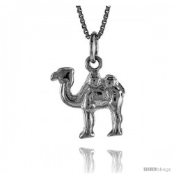 Sterling Silver Camel Pendant, 1/2 in Tall