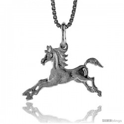 Sterling Silver Teeny Horse Pendant, 1/2 in Tall