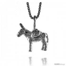 Sterling Silver Small Pack Mule Pendant, 1/2 in Tall