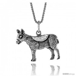 Sterling Silver Pony Pendant, 3/4 in Tall