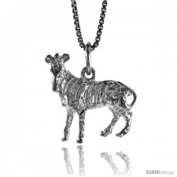 Sterling Silver Horse Pendant, 3/4 in Tall -Style 4p553