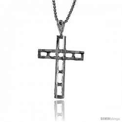Sterling Silver Cross Pendant, 1 in -Style 4p57