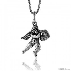 Sterling Silver Cupid Pendant, 5/8 in Tall