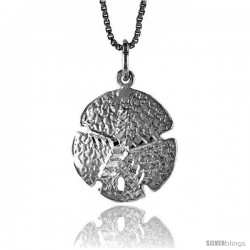Sterling Silver Sand Dollar Pendant, 3/4 in tall -Style 4p602
