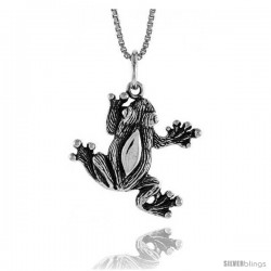 Sterling Silver Frog Pendant, 3/4 in Tall -Style 4p630