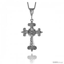 Sterling Silver Cross Pendant, 1 1/2 in -Style 4p64