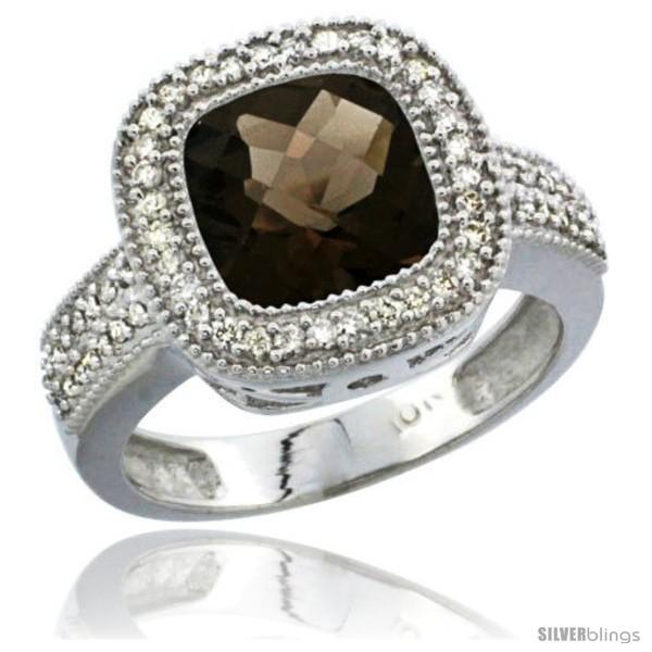https://www.silverblings.com/197-thickbox_default/10k-white-gold-natural-smoky-topaz-ring-cushion-cut-9x9-stone-diamond-accent.jpg