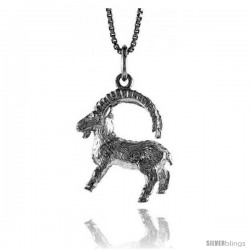 Sterling Silver Zodiac Charm for CAPRICORN 3/4 in Tall