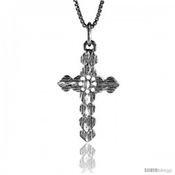 Sterling Silver Cross Pendant, 1 1/16 in -Style 4p69