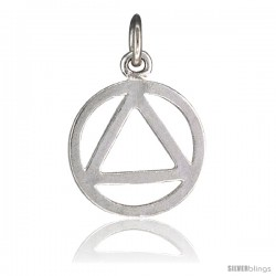 Sterling Silver Recovery Pendant, 1/2 in Tall