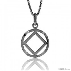 Sterling Silver Recovery Pendant, 1/2 in Tall -Style 4p728