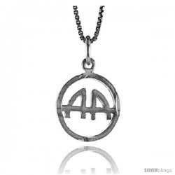 Sterling Silver Recovery Pendant, 1/2 in Tall -Style 4p730