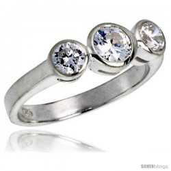 Sterling Silver .47 Carat Size Brilliant Cut Cubic Zirconia Bridal Ring -Style Rcz414