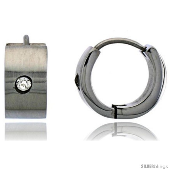 https://www.silverblings.com/2054-thickbox_default/stainless-steel-huggie-earrings-w-cubic-zirconia-stone-1-2-in-diameter.jpg