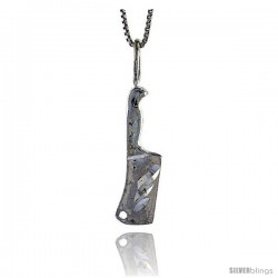 Sterling Silver Cleaver Pendant, 1 1/8 in Tall